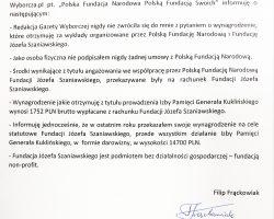 Oświadczenie Dyrektora Filipa Frąckowiaka